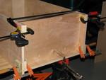 9. Setup for the bottom shelf installation